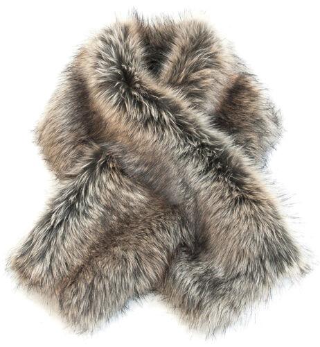 enrolla pieles collar de imitación Fake webpelz Wrap faux fur piel sintética cuellos Pelaje Steck