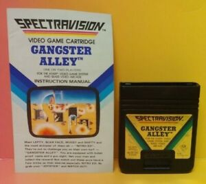 Atari-2600-Gangster-Alley-Game-amp-Instruction-Manual-Tested-Works-Rare