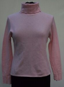 Griffen Light Pink 100% Cashmere Turtleneck Sweater Sz M Soft ...