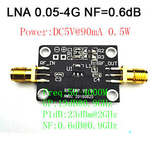 Low-Noise-LNA-0-05-4G-NF-0-6dB-RF-amplifier-FM-HF-VHF-UHF-Ham-Radio