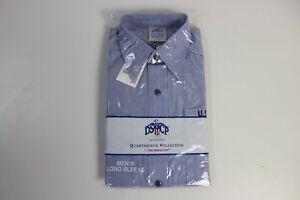 NEW-Mens-Military-GENUINE-US-Navy-Long-Sleeve-USN-Blue-Work-Utility-Shirt-Medium