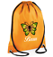 Custom Drawstring Bag Butterfly Personalised Gym PE Print Custom Personalised
