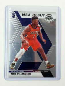 Zion-Williamson-2019-20-Panini-Prizm-Mosaic-NBA-Debut-RC-269-Pelicans