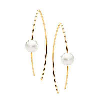NEW Gold and pearl ear wire Women's by Leoni & Vonk