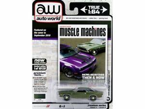 DODGE Challenger R/T - 1970 - darkgreenmetallic - Auto World 1:64