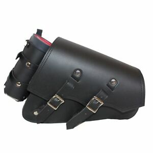 Image Is Loading Single Sided Swing Arm Solo Bag For Harley