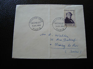 FRANCE-enveloppe-1er-jour-9-7-1953-michelet-cy12-french
