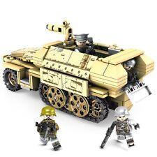 460Pcs Military K18 105MM Cannon Artillery Half Track Vehicle Building Blocks