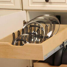 Kitchen Pot Pan Lid Holder Cabinet Pull Out Drawer Organizer Cover Rack Shelf