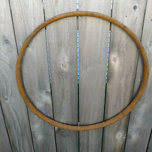Vintage-RARE-Wood-Rim-Wheel-Bike-Wood-RIM-32-Hole-Prewar-Bicycle-Rim