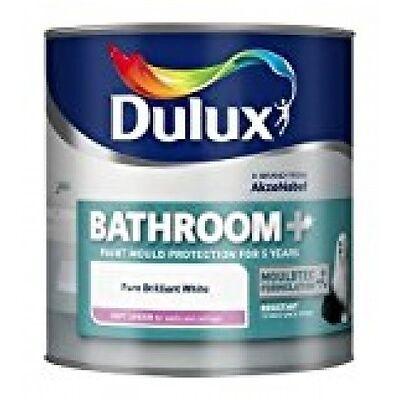 Dulux Bathroom Plus Soft Sheen Paint, 1 L - Pure Brilliant White