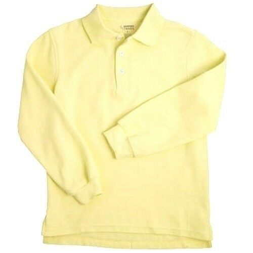 Light Yellow Long Sleeve Polo Shirt 18h Unisex French Toast School ...