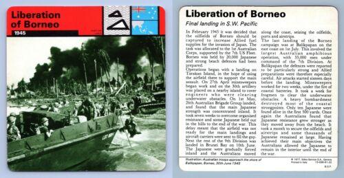 1945 WW2 Edito-Service SA 1977 Card War On Land Liberation Of Borneo