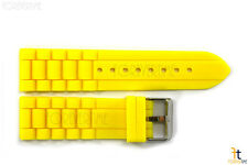 22mm Yellow Silicon Rubber Watch BAND Strap
