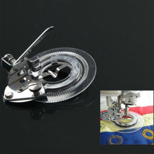 New Flower Stitch Circle Embroidery Presser Foot For Sewing Machine