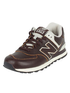 new balance de cuero marron