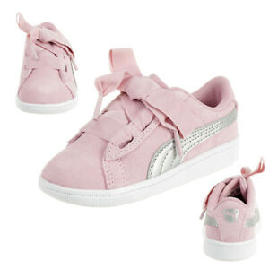 Details zu Puma Vikky Ribbon AC Inf Sneaker Baby Mädchen Schuhe Leder 367640 05 Pink