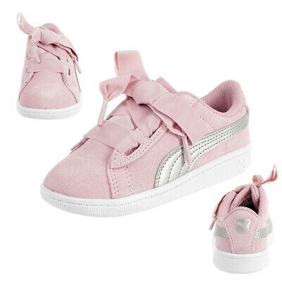 Puma Vikky Ribbon AC Inf Sneaker Baby Mädchen Schuhe Leder 367640 05 Pink   eBay