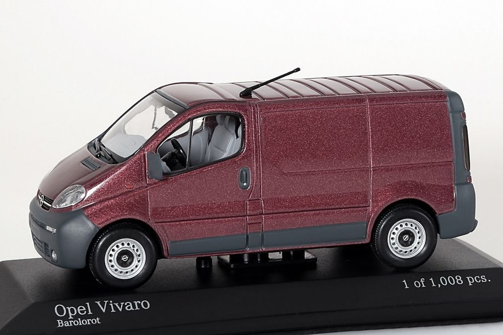 Opel Vivaro Transporter red metallic Minichamps 1 43 NEU OVP