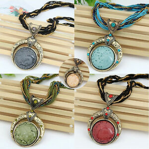 4fb23793370 Image is loading Bohemian-Necklace-Jewelry-Popular-Retro-Vintage-Style-Women -