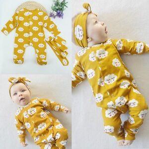 167e317249c7 Kids Baby Boys Girls Warm Infant Romper Jumpsuit Bodysuit Cotton ...