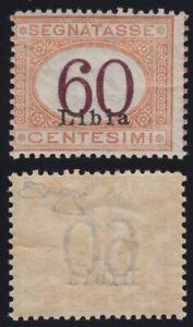 Libia 1925 Segnatasse 60 c. n.11 nuovo MNH** gomma integra cert. Raybaudi