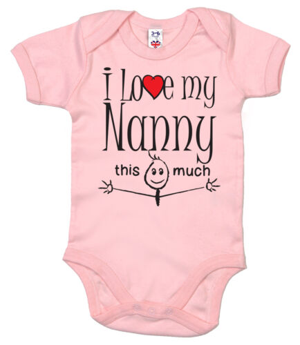 "Cute Baby Bodysuit /""I Love Aunty Uncle Mummy Daddy Grandma Grandpa Nanny/"""