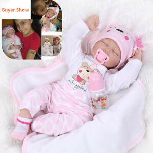 22 Reborn Baby Dolls Lifelike Newborn Handmade Silicone Vinyl Girl Doll Clothes Ebay