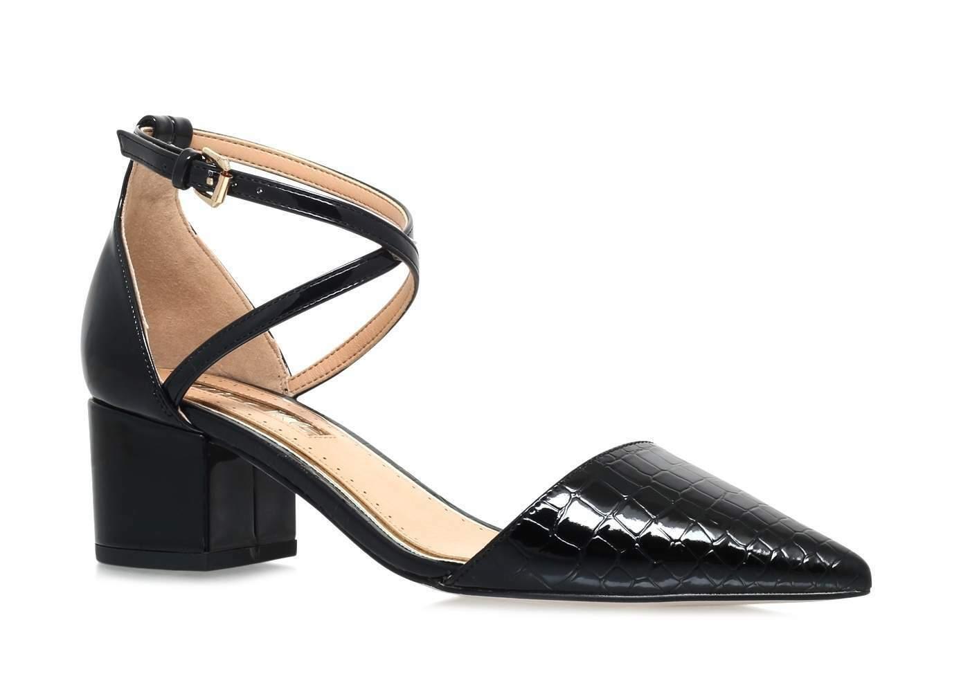 Miss KG femme noires Ava Talon Moyen Bout Pointu Cour chaussures