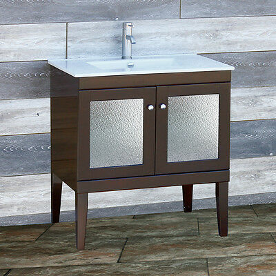 30 Bathroom Vanity Inch Cabinet Ceramic Intergated Top Sink Fd30 4 613617700142 Ebay