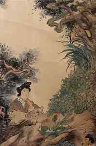 Excellent-Chinese-100-Hand-Scroll-Painting-034-People-034-By-Ren-Bonian