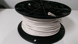 10 GAUGE WIRE WHITE 100' FT PRIMARY AWG STRANDED COPPER POWER REMOTE MTW