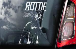 Rottweiler-On-Board-Auto-Finestrino-Adesivo-Rottie-Beware-di-Cane-Insegna