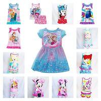 Disney Girls Sleepwear Nightgowns Pajamas Dory Princess Minnie Frozen Pony 2t-5t