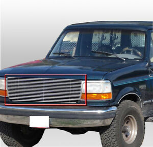 92 96 ford bronco f 150 f 250 f 350 f series upper billet grille