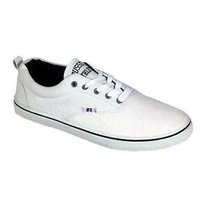 à Chaussures toile Athletic Baskets blanches Russell Baskets en lacets Escarpins p1ZvxXAw
