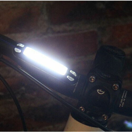 USB Rechargeable COB LED Bike Bicycle Cycling Front Rear Tail Light Warning Lamp