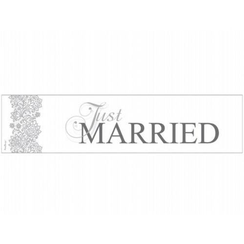 """Hochzeit Kennzeichen /""""Just Married/"""" Nummernschild Autodekoration Autoschild Nr79"""