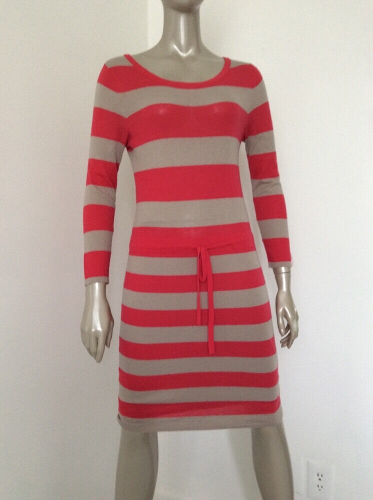 Rag And Bone Womens Red Tan Striped Wool Silk Cot… - image 2
