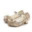 Kinder Mädchen Pailletten Sandalen Prinzessin Schuhe Ballerinas Party Hochzeit