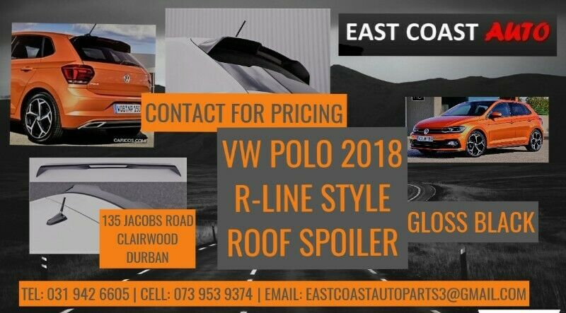 VW POLO 2018 R-LINE STYLE ROOFSPOILER