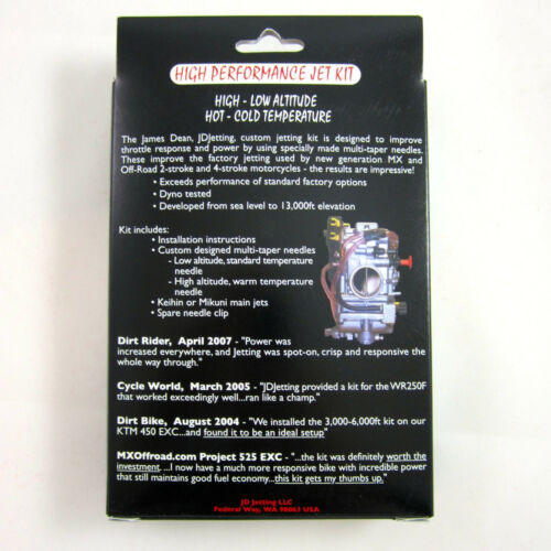 JD Jetting Jet Kit High Performance KTM 360 380 96 97 98 JDKH06 NEW