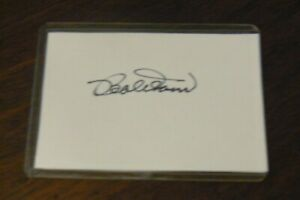BOBBY DOERR, BOSTON RED SOX, HOF signed Cut Autograph