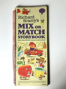 Richard-Scarry-Mix-or-Match-Storybook-1979-Children-s-Book