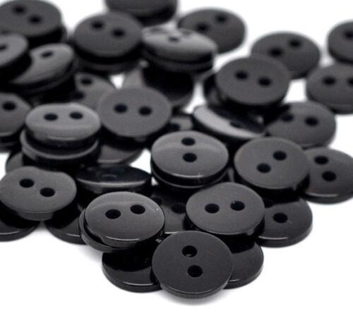scrapbook adecuado para coser botón Art Crafts 30 Botones de resina de color negro 9mm