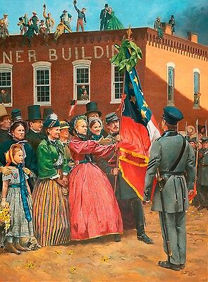 """/""""Presenting the Colors/"""" Don Troiani Civil War Print 8th Tennessee Infantry"""