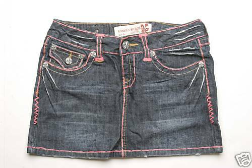 Laguna Beach Jean Crystal Cove Pink Stitch Skirt 24