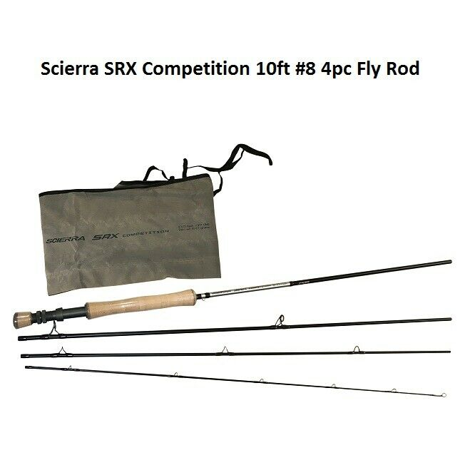 Scierra SRX competencia 10ft  8 4pc Varilla de mosca 58137   Las existencias nuevo 2019