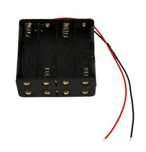 8x-AA-Size-Cell-Battery-Clip-Holder-Storage-Box-12V-Case-With-Wire-Lead-e-AWZY