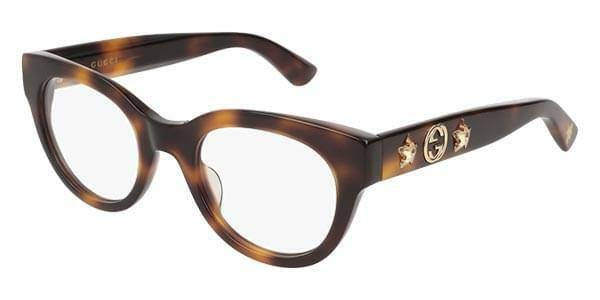 c598c4e08918 Gucci Gg0209o 002 Eyeglasses Havana Brown Gold Frame 48mm for sale online